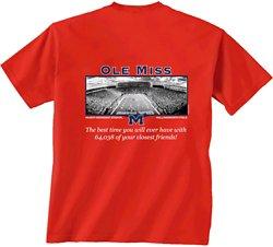 New World Graphics Men's University of Mississippi Friends Stadium T-shirt