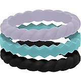 QALO Women's Stackable Silicone Wedding Ring Set