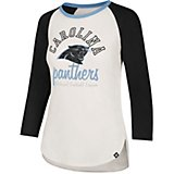 '47 Carolina Panthers Women's Knockaround Midrange Raglan 3/4 Sleeve T-shirt