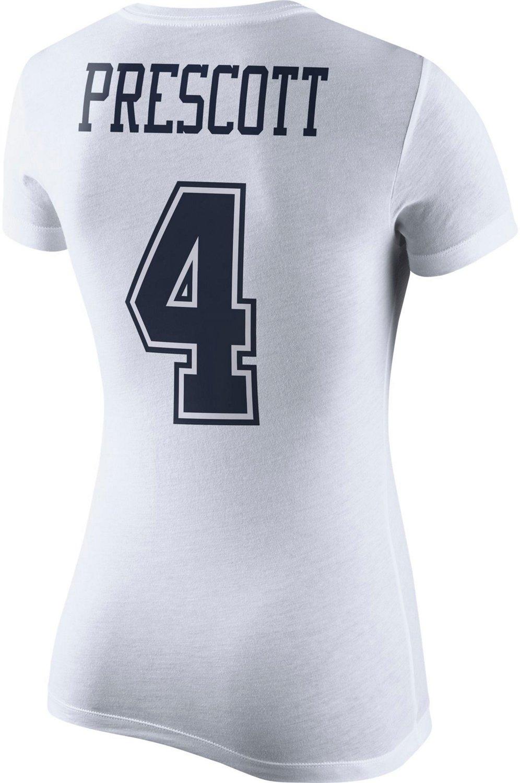 on sale 743f5 93466 Nike Women's Dallas Cowboys XC2 Player Pride Dak Prescott 4 T-shirt