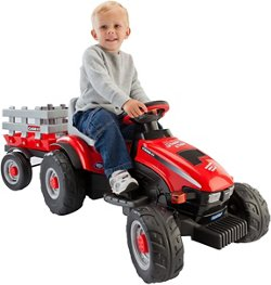 Case IH Lil Tractor and Trailer 6 V Ride-On Vehicle