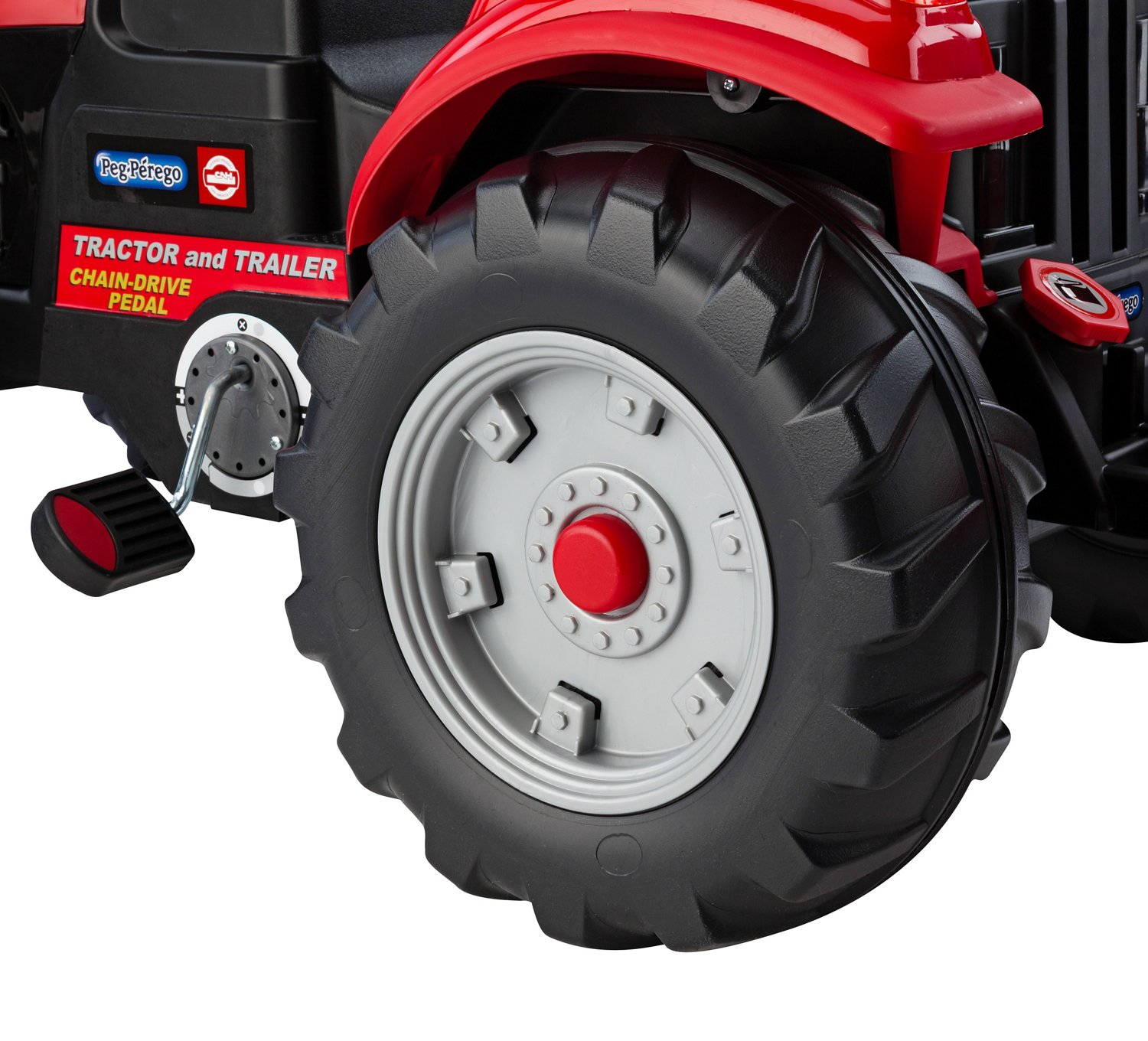 Peg Perego Case IH Tractor and Trailer Ride-On Pedal Vehicle - view number 4