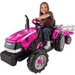 Girls' Case IH Magnum 12 V Ride-On Tractor and Trailer