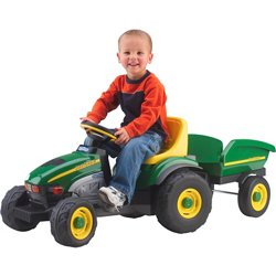 John Deere Farm Tractor and Trailer Ride-On Pedal Vehicle