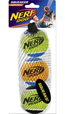 NERF Dog 2.5 in Squeak Tennis Balls 3-Pack