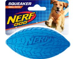 NERF Dog 6 in Tire Squeak Football
