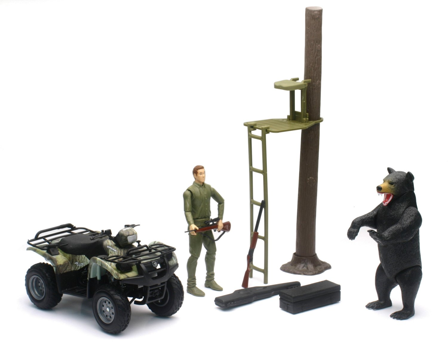 New-Ray Toys Wildlife Hunter Camo Hunting Vehicle Play Set - view number 2