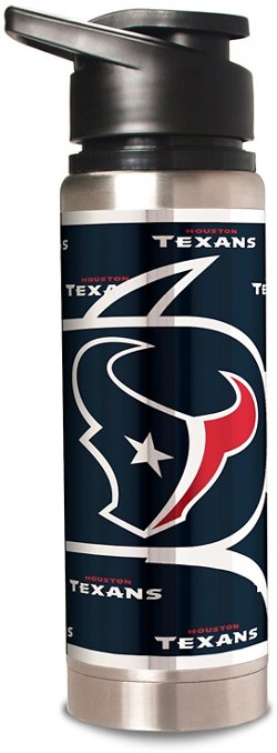 Great American Products Houston Texans 20 oz Metallic Water Bottle