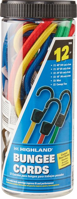 Highland 12-Piece Bungee Cord Assortment