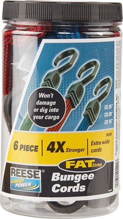 Reese Fat-Strap 6-Piece Bungee Cord Assortment