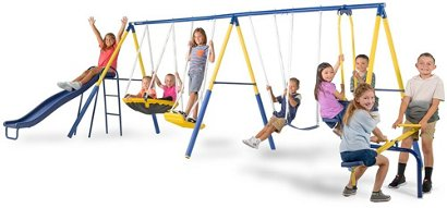 Sportspower Super 10 Me And My Toddler Swing Set Academy