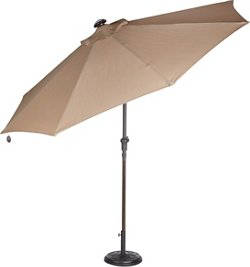 Mosaic 9 ft Solar Light Umbrella