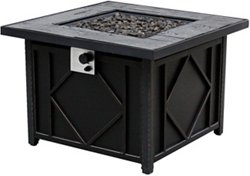 Bali Outdoors 35 in Square Cast Tabletop Gas Fire Pit