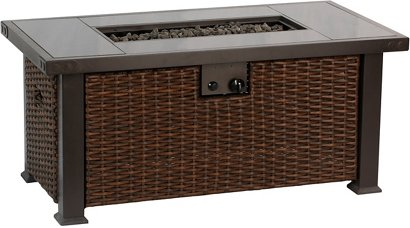 Bali Outdoors 52 In Rectangular Gas Fire Pit Table Academy