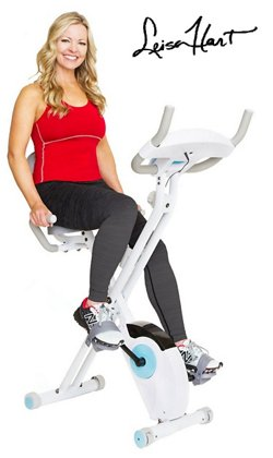 Leisa Hart Folding Cardio Cycle with Lumbar Support by Body Rider