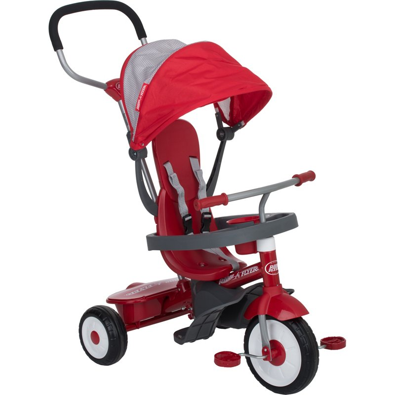 Radio Flyer 4-in-1 Stroll 'N Tricycle Red - Scooter/Stroller/Trikes at Academy Sports