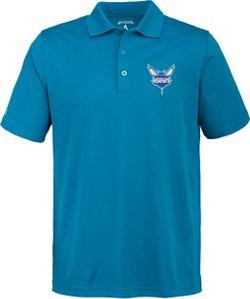 Antigua Men's Charlotte Hornets Pique Xtra-Lite Polo Shirt
