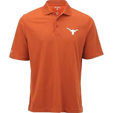 Antigua Men's University of Texas Pique Xtra-Lite Polo Shirt