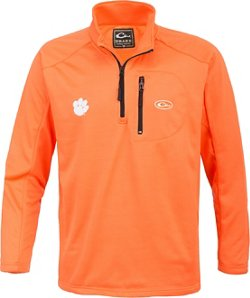 Drake Waterfowl Men's Clemson University Breathelite 1/4 Zip Pullover