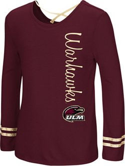 Colosseum Athletics Girls' University of Louisiana at Monroe Marks the Spot Strappy Back Long Sleeve
