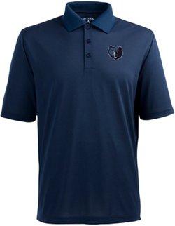 Antigua Men's Memphis Grizzlies Pique Xtra-Lite Polo Shirt