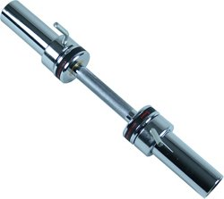 20 in Olympic Single Dumbbell Handlebar with Ring Collars
