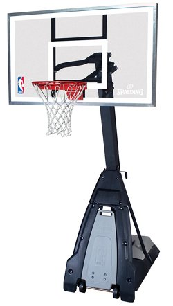 Spalding The Beast 60 in Portable Tempered-Glass Basketball Hoop