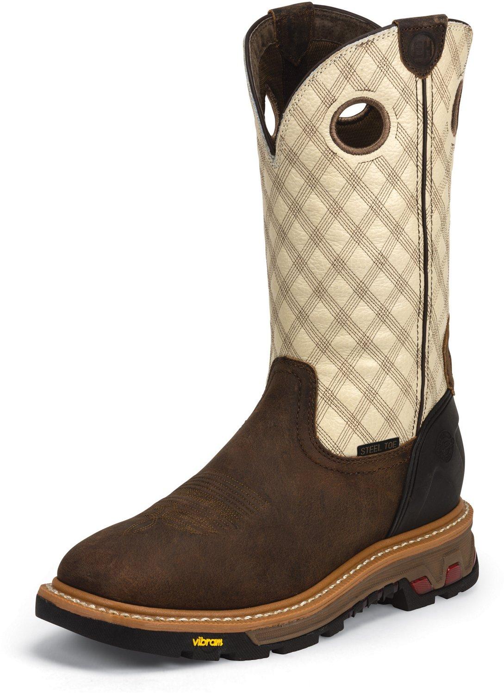 ce44de96092c Display product reviews for Justin Men s Roughneck Steel Toe Wellington  Work Boots