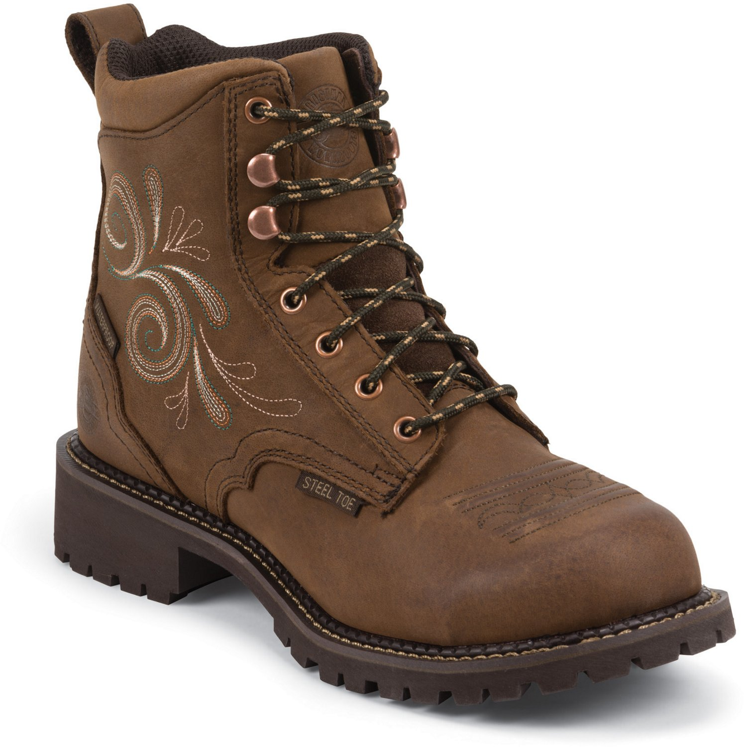 Display product reviews for Justin Women s Katerina Waterproof Steel Toe  Work Boots c4ed205b39