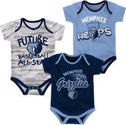 NBA Infants' Memphis Grizzlies 3-Piece Body Suit Set