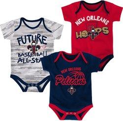 NBA Infants' New Orleans Pelicans 3-Piece Body Suit Set