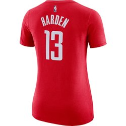 Women's Houston Rockets James Harden 13 Name and Number T-shirt