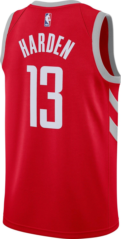 7b65a86fa Nike Men s Houston Rockets James Harden Icon Edition Swingman Jersey ...