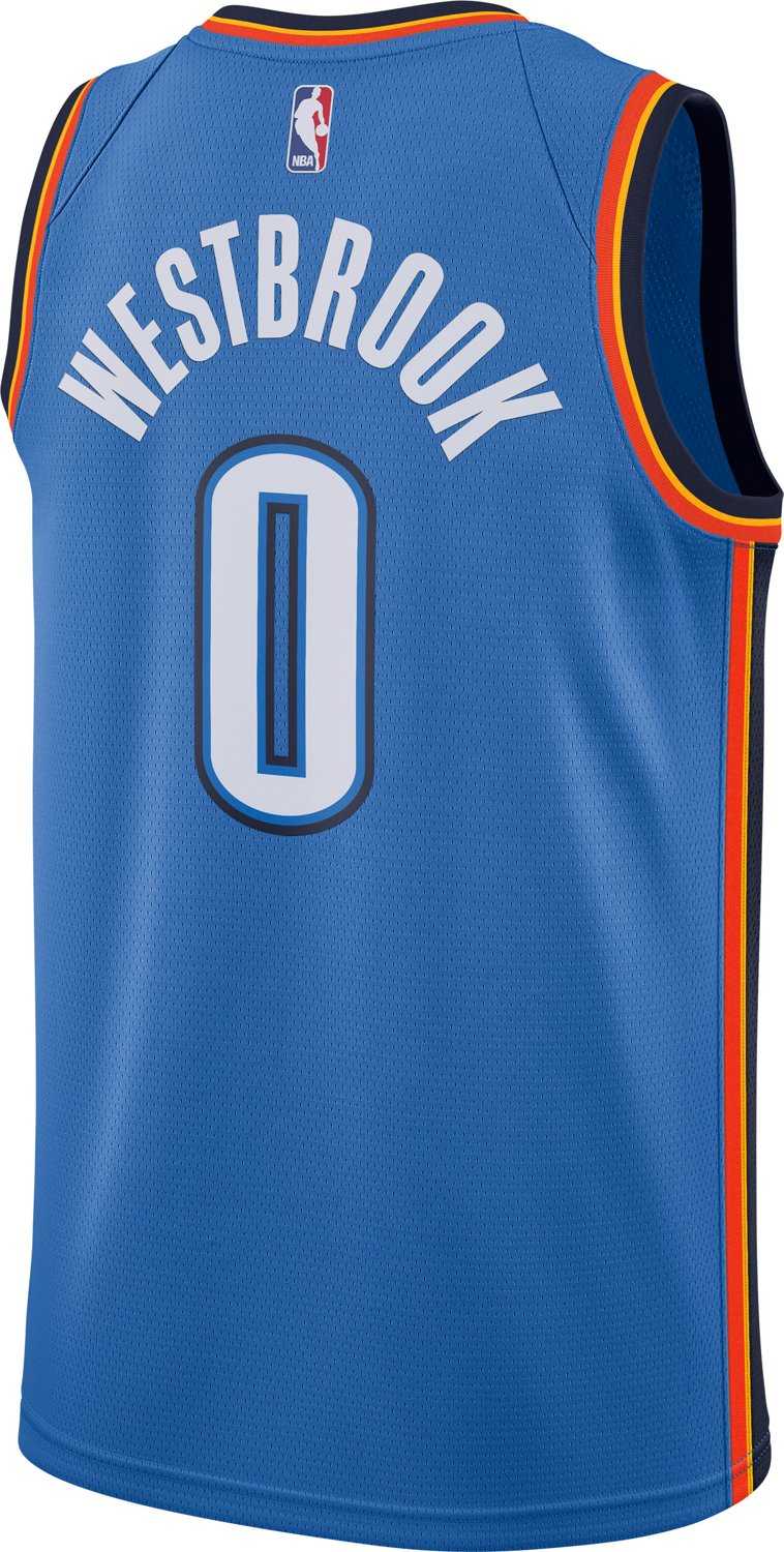 official photos 2290f 6771d Nike Men's Oklahoma City Thunder Russell Westbrook Icon Edition Swingman  Jersey