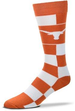 For Bare Feet University of Texas Jumbo Check Thin Knee High Dress Socks