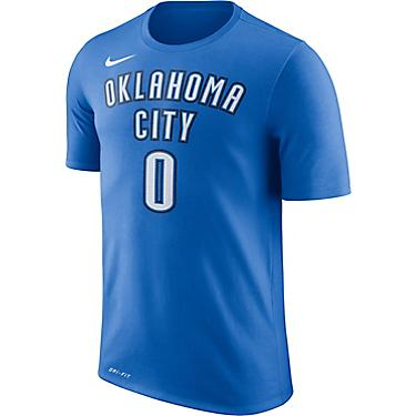hot sale online bd397 ed41d Nike Men's Oklahoma City Thunder Russell Westbrook 0 Name and Number T-shirt