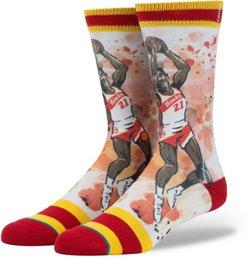 Stance Men's Atlanta Hawks Dominique Wilkins Legends Collection Socks