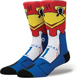 Stance Men's University of Kansas Big Jay Team Mascot Socks