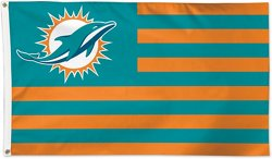 WinCraft Miami Dolphins Americana 3 ft x 5 ft Deluxe Flag