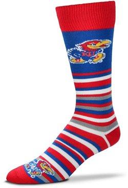 For Bare Feet University of Kansas Lotta Stripe Dress Socks
