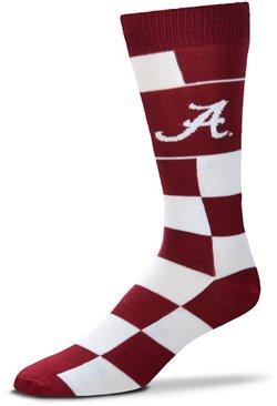 For Bare Feet University of Alabama Jumbo Check Thin Knee High Dress Socks