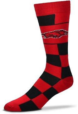 For Bare Feet University of Arkansas Jumbo Check Thin Knee High Dress Socks