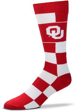 For Bare Feet University of Oklahoma Jumbo Check Thin Knee High Dress Socks