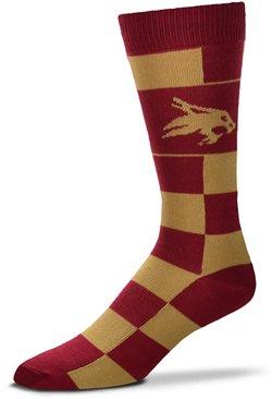 For Bare Feet Texas State University Jumbo Checkered Crew Dress Socks
