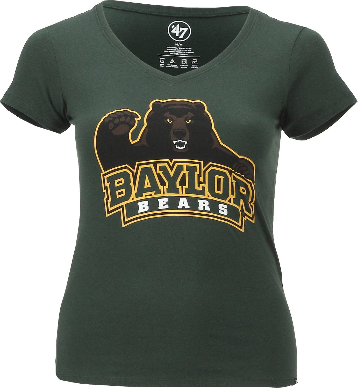 '47 Baylor University Women's Logo Splitter V-neck T-shirt