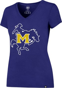 '47 McNeese State University Women's Logo Splitter V-neck T-shirt