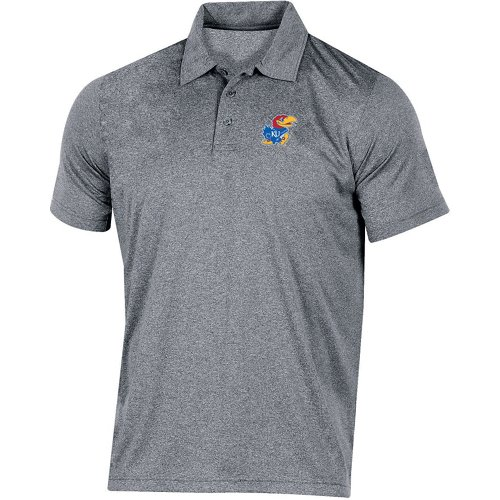 Champion Men's University of Kansas Heather Polo Shirt