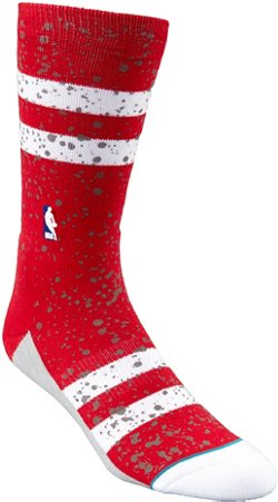 Stance Men's Houston Rockets Overspray Crew Socks