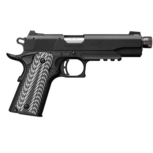Browning 1911 Black Label Suppressor-Ready .22 LR Pistol with Rail