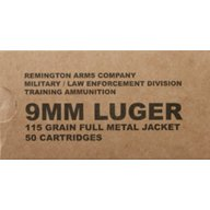 Remington UMC MIL-SPEC 9mm 115-Grain FMJ Ammunition